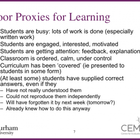 Rob Coe - Poor Proxies for Learning